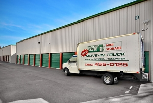 Olympia self storage from Money Saver Lacey