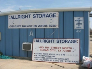 Texas City self storage from All Right Storage