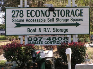 Bluffton self storage from 278 Econo Storage