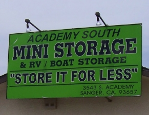 Fresno self storage from Academy South Mini Storage