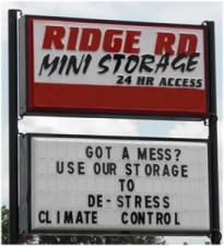 Lafayette self storage from Ridge Road Mini Storage