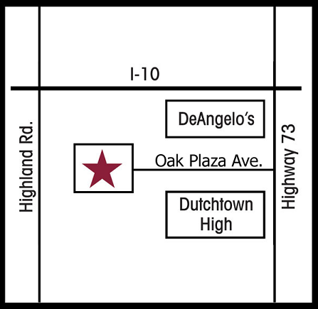 36501 Oak Plaza Ave Prairieville, LA 70769 - Map