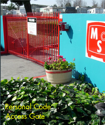 Mini Safe Storage - 15311 Hesperian Blvd, San Leandro CA 94578 - Security Gate