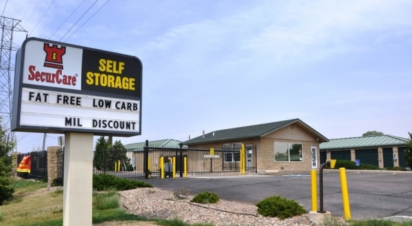 SecurCare Self Storage - Colorado Springs - S Academy Rd - 777 S Academy Blvd, Colorado Springs CO 80910 - Signage