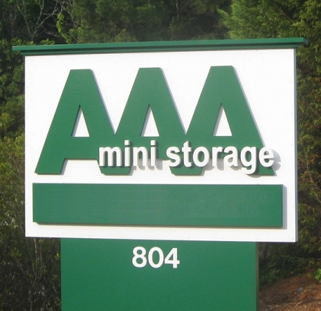 AAA Mini Storage - 804 Junction Rd, Durham NC 27703 - Signage
