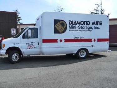 Diamond Mine Storage - Union City - 4400 Horner Street, Union City CA 94587 - Moving Truck