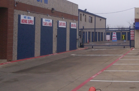 StorQuest Self Storage - 10333 Denton Drive, Dallas TX 75220 - Security Gate