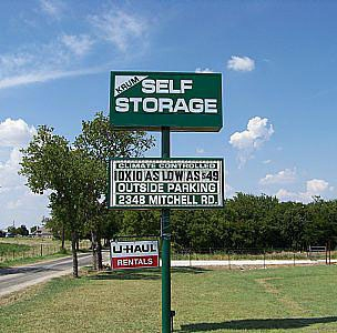 Krum Self Storage - 2348 Mitchell Road, Krum TX 76249 - Signage