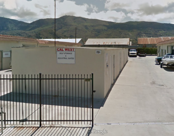 Cal West Storage & Industrial Suites - 700 East Santa Maria Street, Santa Paula CA 93060 - Security Gate · Drive-up Units · Driving Aisle