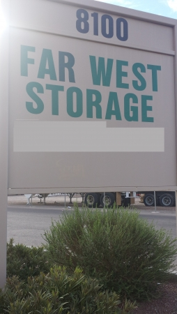 Far West Storage - Artcraft Road - 8100 Artcraft Road, El Paso TX 79932 - Signage