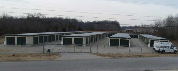 A Thru Z Mini Storage - 650 Huntco Drive, Clarksville TN 37043 - Security Gate · Drive-up Units · Driving Aisle