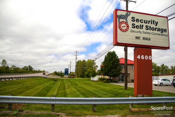Security Self Storage - West - 4600 Fisher Road, Columbus OH 43228 - Signage